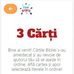 3 carti - joc biblic